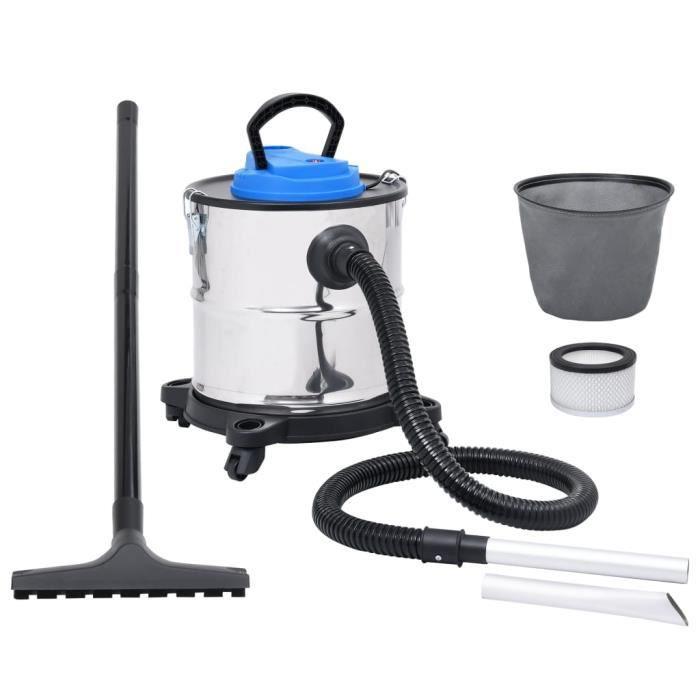 Aspirateur à cendres avec tube et brosse Acier inoxydable HB015