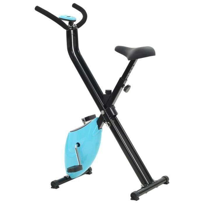 Vélo d'appartement Résistance à courroie Bleu X-Bike-DQ FRANCE