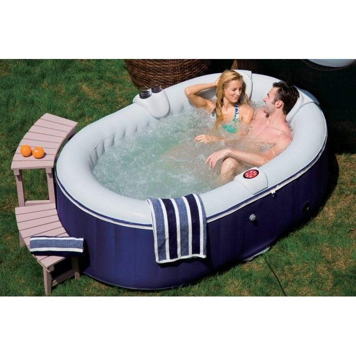 Jacuzzi spa together couleur bleu mati re daim achat vente spa complet - Jacuzzi gonflable occasion ...