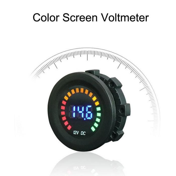 Voiture moteur DEL rouge numérique Panneau d/'affichage 12V-24V Voltmètre Volt Meter