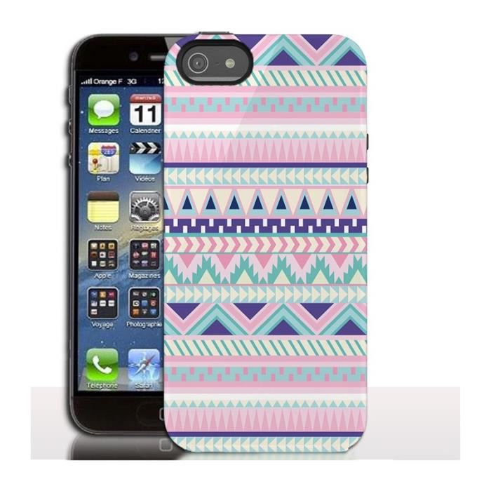 coque iphone 5s girly azteque etui rigide aztek