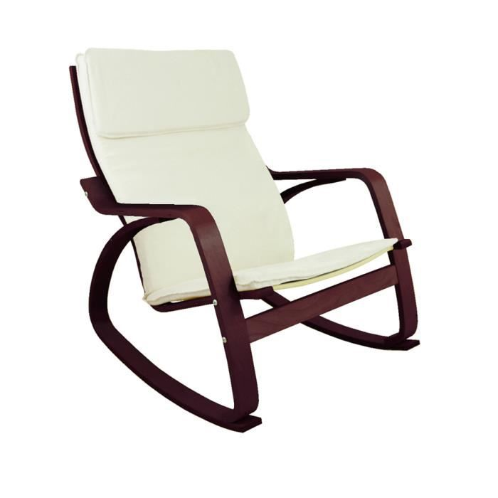 Rocking chair chaise bascule francky coloris achat - Chaise design bascule ...
