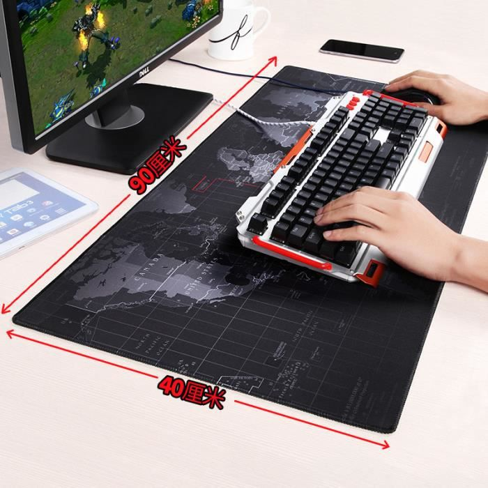 Tapis De Souris Gaming Xxl Dimension 900x400x4mm Base En Caoutchouc
