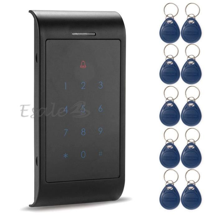contr le d 39 acc s rfid serrure digicode 10 cl badge. Black Bedroom Furniture Sets. Home Design Ideas