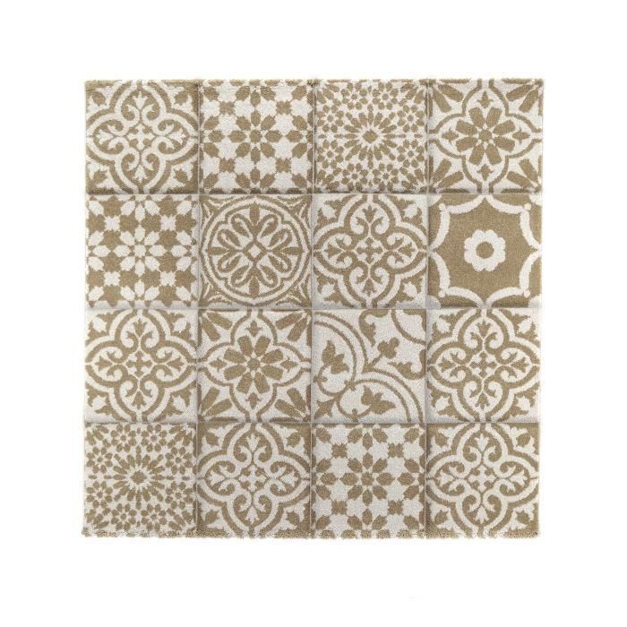 benuta tapis patchwork mosaico blanc 150x150 cm achat. Black Bedroom Furniture Sets. Home Design Ideas