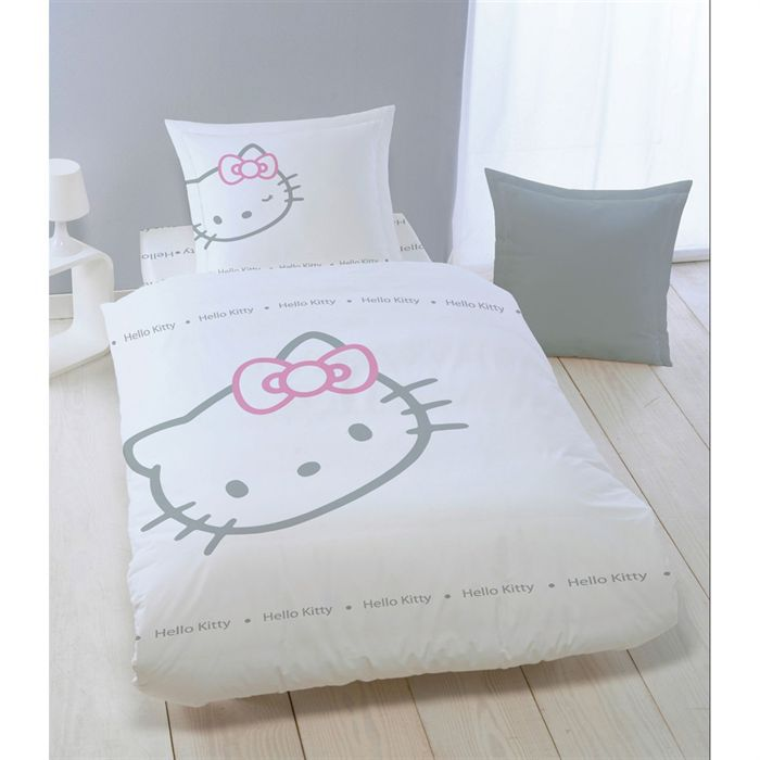 drap housse 90 x 190 cm hello kitty blinky white achat. Black Bedroom Furniture Sets. Home Design Ideas
