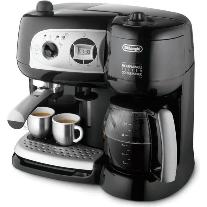 combin expresso cafeti re delonghi bco264 1 achat. Black Bedroom Furniture Sets. Home Design Ideas