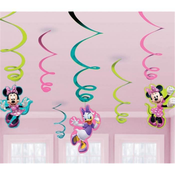 6 guirlandes verticales minnie disney achat vente guirlande non lumineuse plastique. Black Bedroom Furniture Sets. Home Design Ideas