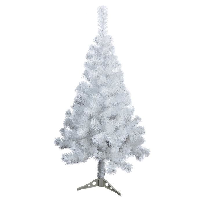 sapin de no l artificiel 180 branches hauteur 120 cm blanc achat vente sapin arbre de no l. Black Bedroom Furniture Sets. Home Design Ideas