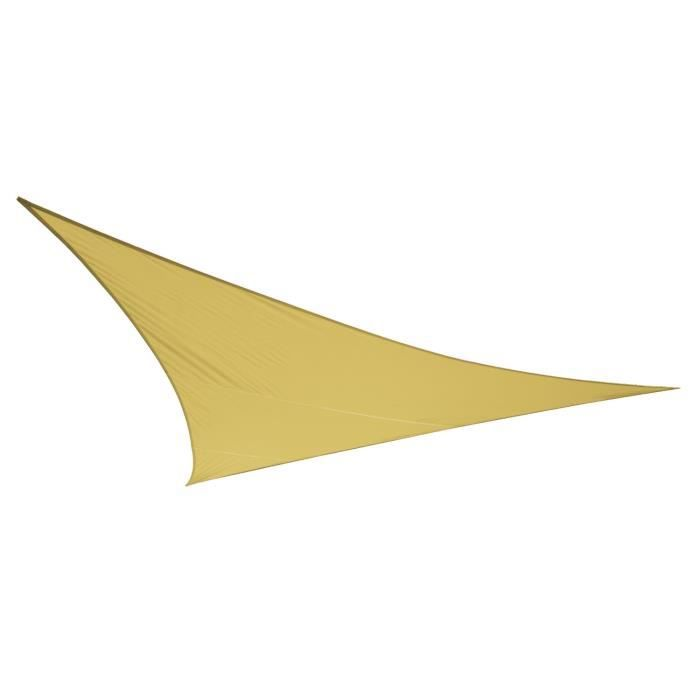 Voile d 39 ombrage sable du d sert triangle 3m imperm able - Toile triangle jardin ...