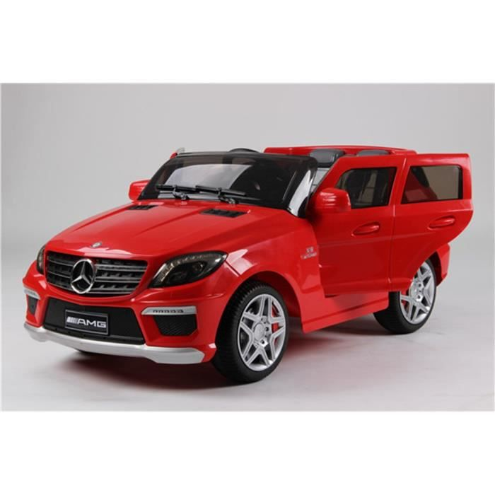 mercedes ml63 amg rouge voiture lectrique 12v 2 moteurs t l commande parentale convient aux. Black Bedroom Furniture Sets. Home Design Ideas