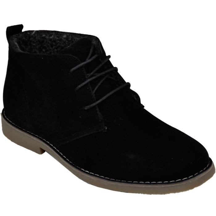 desert boots homme style casual achat vente bottine bottines homme noir galax s soldes. Black Bedroom Furniture Sets. Home Design Ideas