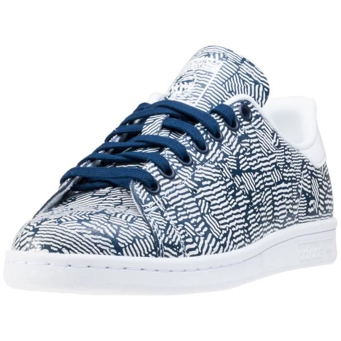 adidas Stan Smith W Femmes Baskets Blue Print - 8 UK