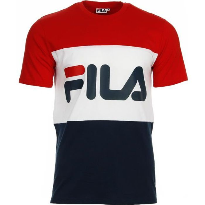 t shirt fila day tee men rouge rouge bleu marine blanc achat vente t shirt cdiscount. Black Bedroom Furniture Sets. Home Design Ideas