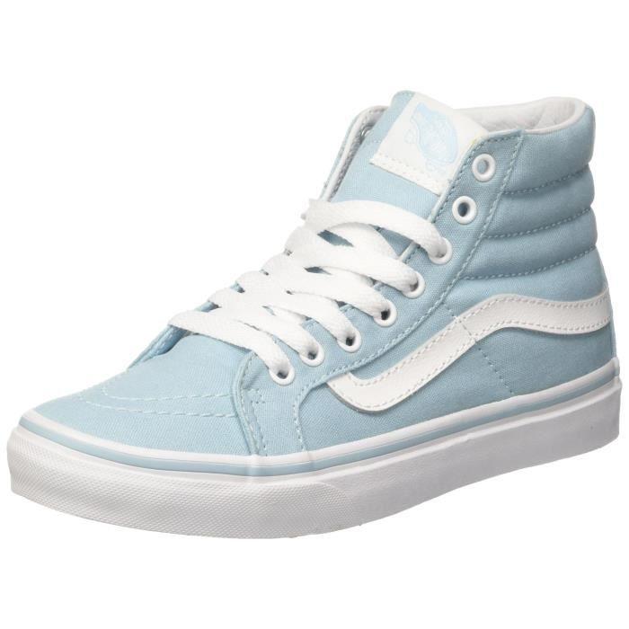 VANS Chaussures de skate sk8-hi slim pour femme, cristal bleu ...