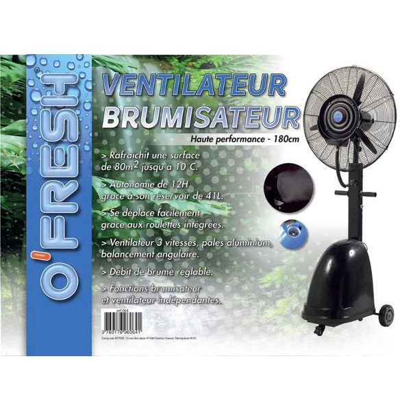 o fresh ventilateur brumisateur 180cm achat vente brumisateur o fresh ventilateur. Black Bedroom Furniture Sets. Home Design Ideas