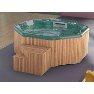 spa margarita 5 places vert habillage bois sans achat vente spa complet kit spa spa. Black Bedroom Furniture Sets. Home Design Ideas