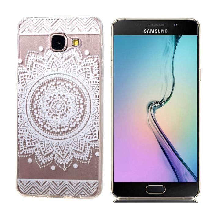 coque pour samsung galaxy j5 2016 duos m j510fn transparent tribal fleur mince tpu souple. Black Bedroom Furniture Sets. Home Design Ideas