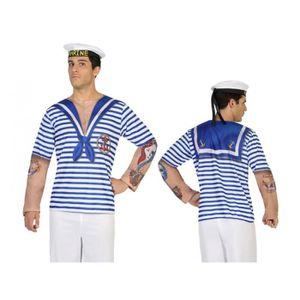 DÉGUISEMENT - PANOPLIE Tee Shirt Homme imprime Marin Taille M/L