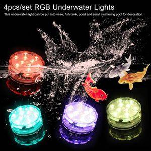 PROJECTEUR - LAMPE Lumière de piscine sous-marine 4pcs projecteur Tél
