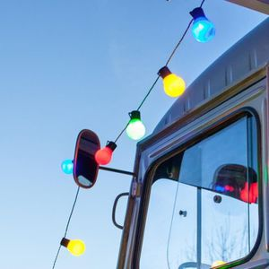 GUIRLANDE D'EXTÉRIEUR Guirlande Lumineuse 38 Globes LED Multicolores Int