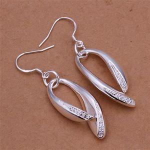 Boucle d'oreille Boucles d'oreilles en forme de col avec cristaux