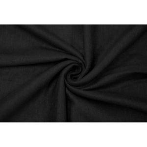 TISSU Tissu Lin Viscose Noir -Coupon de 3 mètres