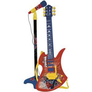 INSTRUMENT DE MUSIQUE SPIDERMAN Microphone et guitare avec amplificateur