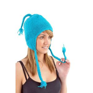 BONNET - CAGOULE Fantazia - Bonnet Nepal Laine - Bonnet  Turquoise