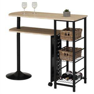 MANGE-DEBOUT Table haute de bar JOSUA mange-debout avec comptoi