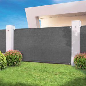 CLÔTURE - GRILLAGE Brise vue haute densité gris 2 x 10 m 300 gr/m² qu