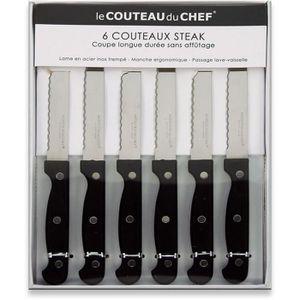 COUTEAU DE TABLE LAGUIOLE PRODUCTION - 10320023 - Coffret 6 Couteau