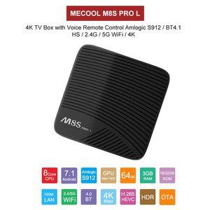 BOX MULTIMEDIA MECOOL M8S mini Smart TV BOX 4K-3 Go RAM + 32 Go R