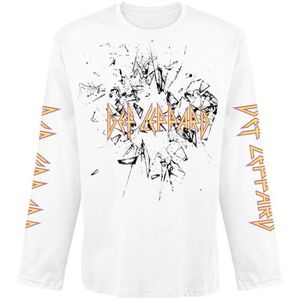 T-SHIRT Def Leppard Shatter T-shirt manches longues blanc