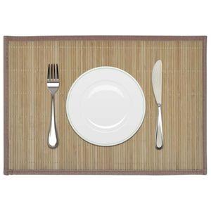 SET DE TABLE 6 Napperons en bambou 30 x 45 cm sets de table Bru