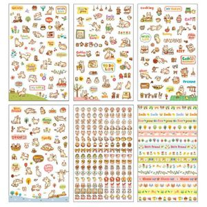 JEU DE STICKERS 6 Fiches Motif Mignon Chat Autocollant Stickers Ad