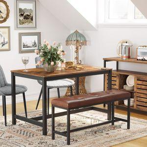 TABLE À MANGER SEULE VASAGLE Table à manger de 4 personnes industriel,