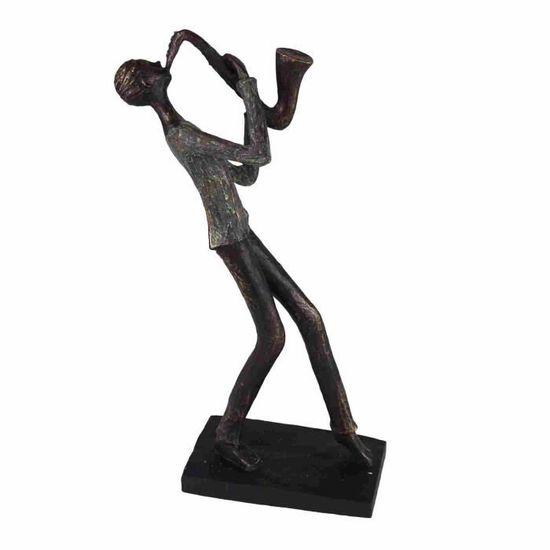 Moderne Sculpture Dekofigur avec boule de Céramique Argent Hauteur 24 largeur 25 cm