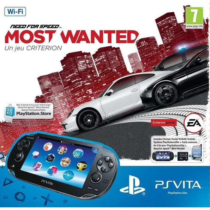 PACK PS VITA WIFI NEED FOR SPEED MOST WANTED