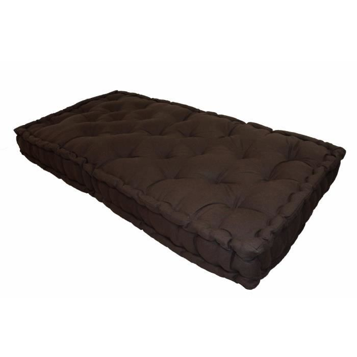 matelas de sol double 60x120x15 cm chocolat achat vente coussin cdiscount. Black Bedroom Furniture Sets. Home Design Ideas