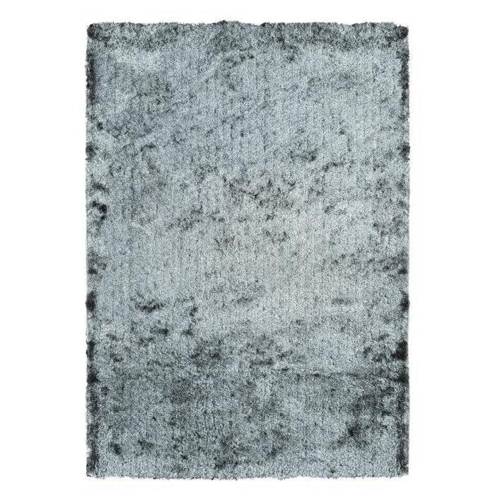 tapis de salon shaggy lucia gris 80x150 cm achat vente tapis 100 polyester cdiscount. Black Bedroom Furniture Sets. Home Design Ideas