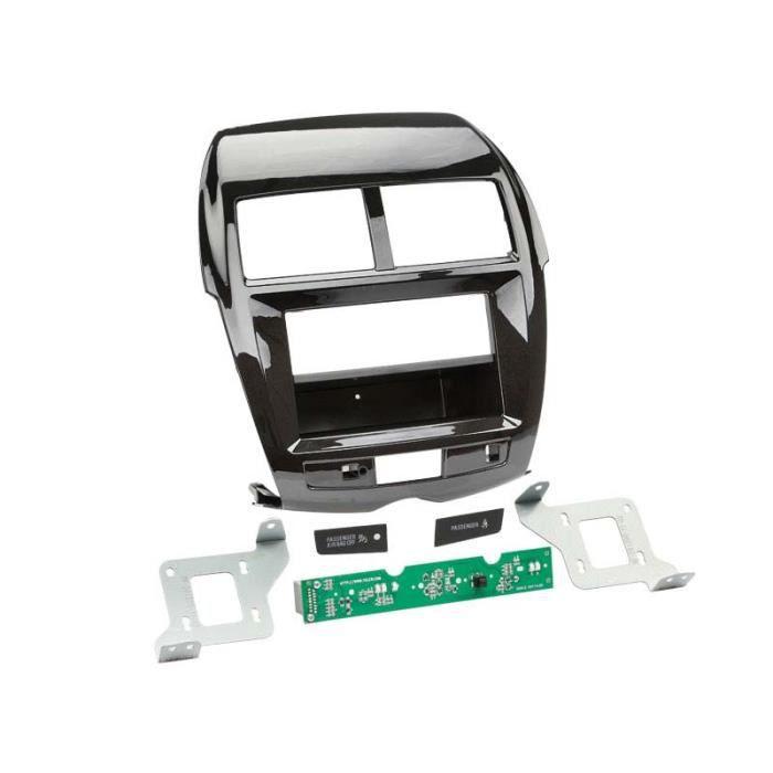 Adaptateur de façade 2-DIN avec vide poche Citroen C4 / Peugeot 4008