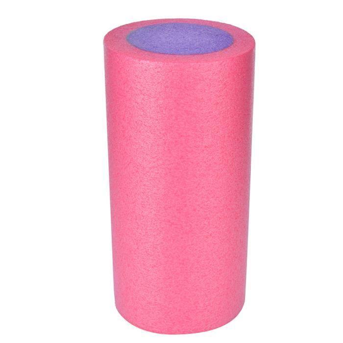MEIHE Rouleau De Massage Epe Yoga Mousse Rouleau Muscle Soulager Équipement 30Cm / 11.8In (Extérieur Rose Intérieur Violet)