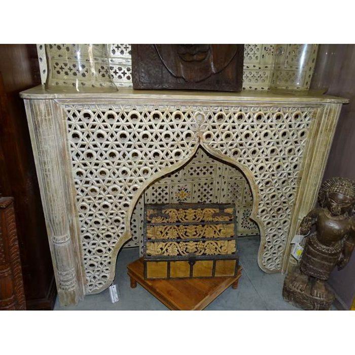 Console indienne moucharabieh en forme d'arche