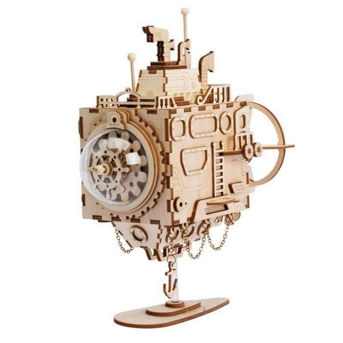 (NO4)ventilateur rotatif en bois bricolage Steampunk modèle Kits de construction assemblage jouet cadeau pour enfants adulte