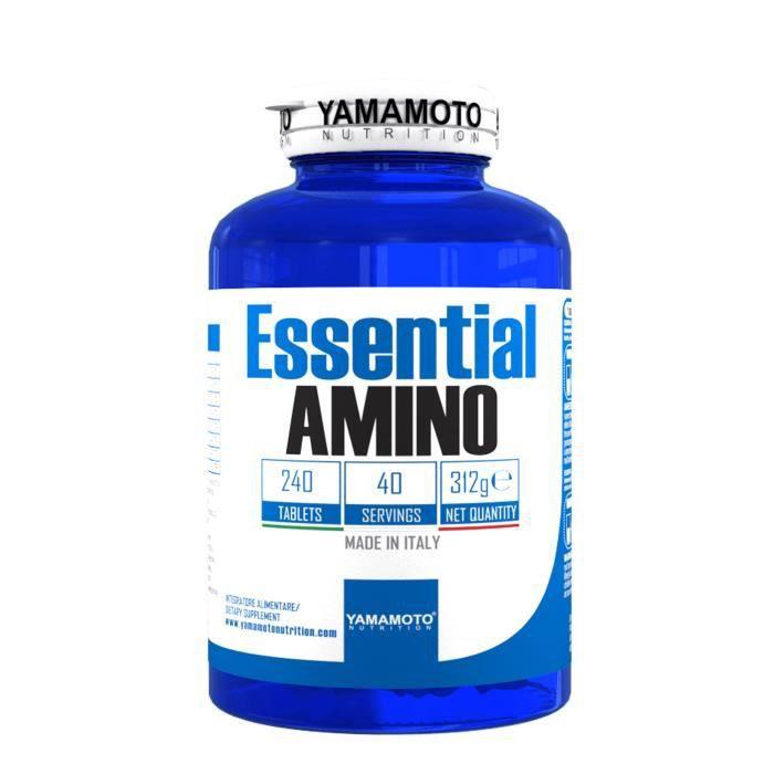 YAMAMOTO NUTRITION Essential AMINO 240 comprimé, nutrition sportive, complément alimentaire