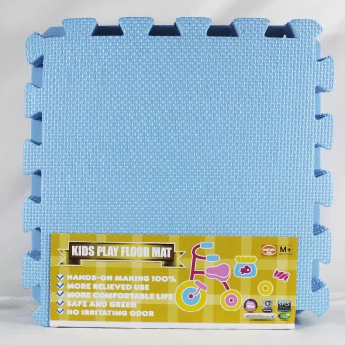 Tapis d'éveil,Meitoku bébé EVA mousse exercice de verrouillage tapis de jeu de sol tapis de protection - Type Sky Blue-9pcs 32x32cm