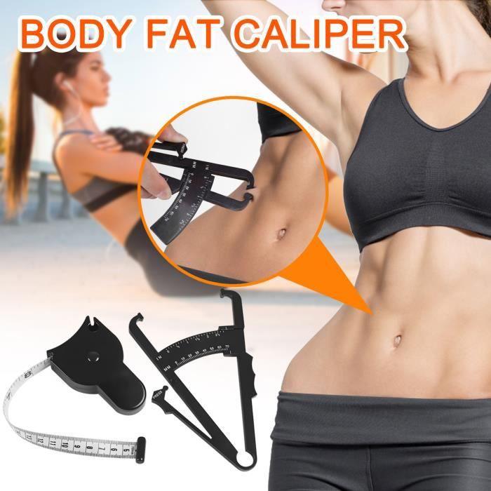 Équipement de fitness 1381 Pince à graisse corporelle à double échelle mesurant le mètre de pli cutané Ruban à mesurer