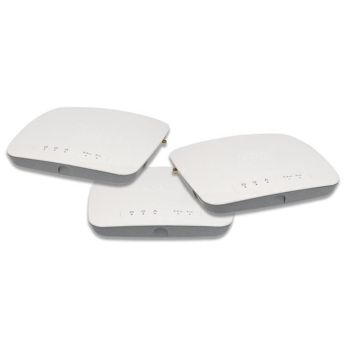 Netgear WAC730B03-10000S Pack de 3 points d'accès sans fil Dual Band 1700 Mbps Blanc