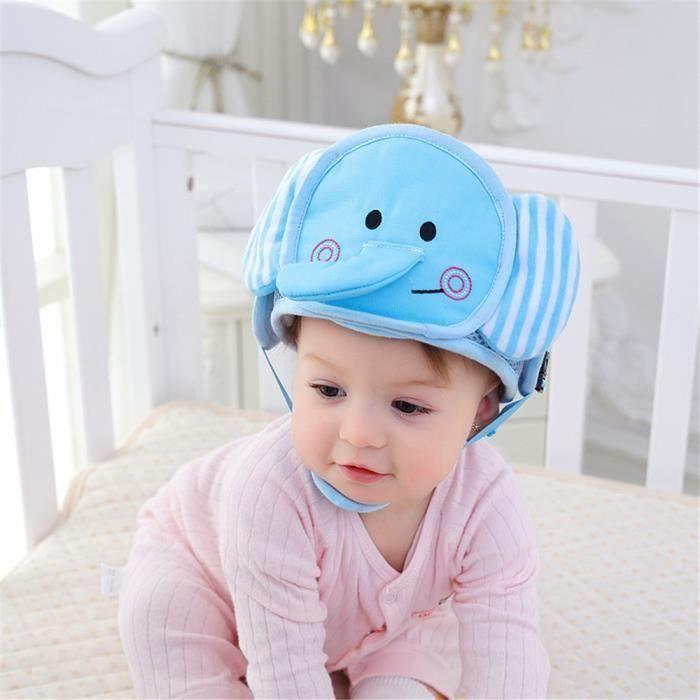 Casque Sécurité Bébé Casque de Protection Bébé Sécurité Domestique en Coton Douce Réglable Antichoc (Éléphant) la23705